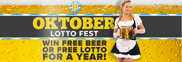 Oktober Lotto Fest competition, win beer for a year, win lottery tickets for a year