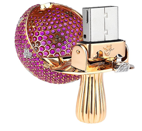 Diamond encrusted flash drive