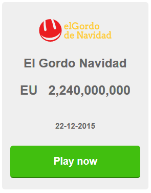 El Gordo de Navidad, The Fat One, Spanish Christmas Raffle