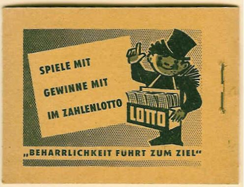 German Lotto Stamp