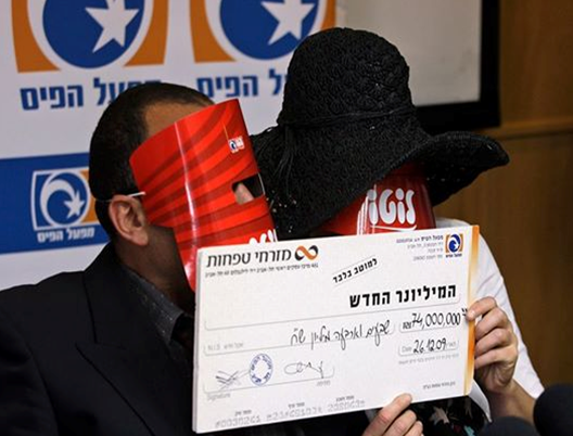 Masked lotto winners