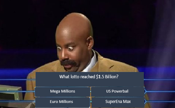 Million Dollar question, million dollar lotto question