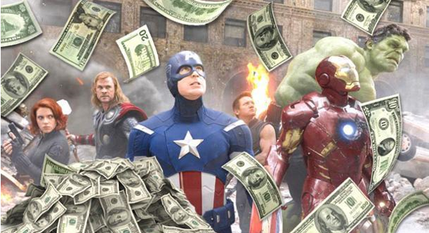 Superheros and money