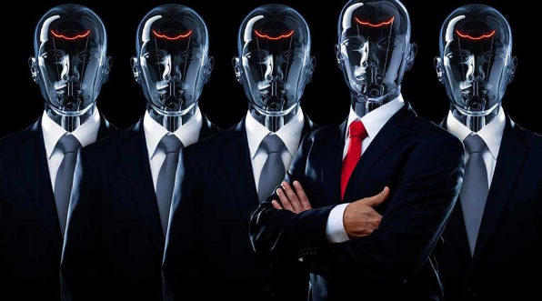robots in suites, financial squad