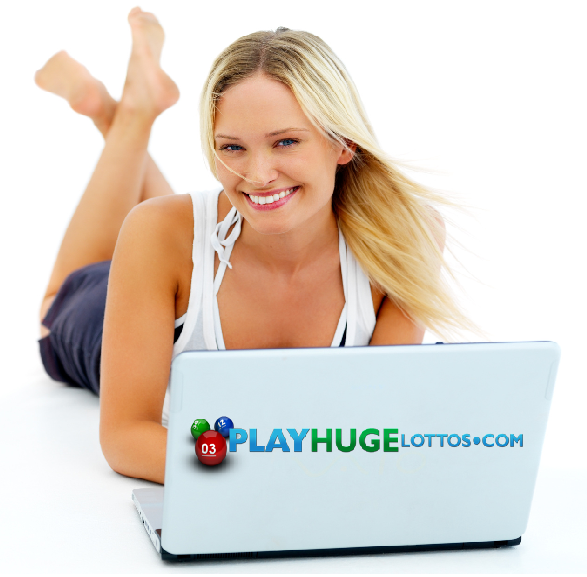 woman on laptop, play the lotto online
