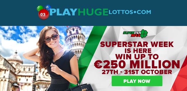 250 million SuperEnaMax lottery jackpot, SuperStar week