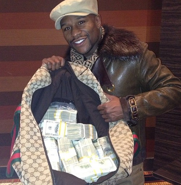 Mayweather and His Duffel Bags