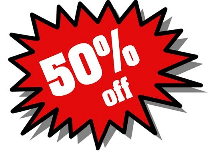50% discount on UK Lottery