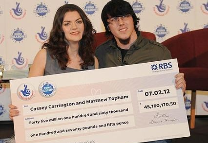 Giant euromillions cheque