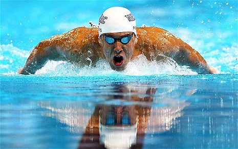 Michael Phelps going for Gold