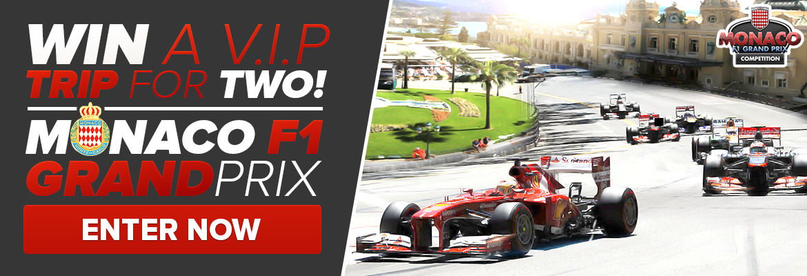 Win a V.I.P trip for two to Monaco GP
