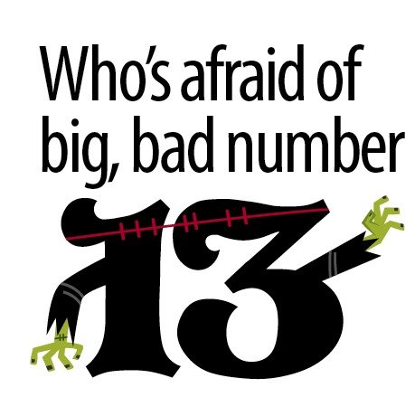 Who's afraid of number 13?