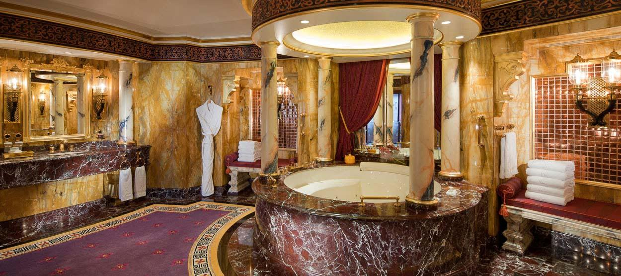 Welcome to the most expensive hotel rooms in the world for Burj al arab suite